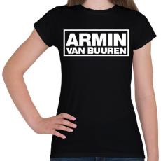 PRINTFASHION Armin Van Buuren - Női póló - Fekete