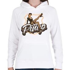 PRINTFASHION Army legs - Női kapucnis pulóver - Fehér