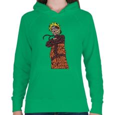 PRINTFASHION Árnyék nindzsa - Női kapucnis pulóver - Zöld