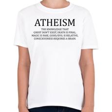 PRINTFASHION ATHEISM - Gyerek póló - Fehér