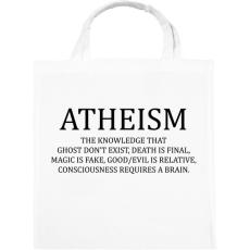 PRINTFASHION ATHEISM - Vászontáska - Fehér