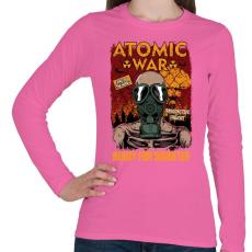 PRINTFASHION Atomháború - Női hosszú ujjú póló - Rózsaszín