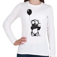 PRINTFASHION Atommaci - Női hosszú ujjú póló - Fehér