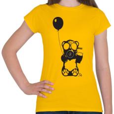 PRINTFASHION Atommaci - Női póló - Sárga