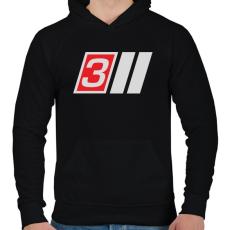 PRINTFASHION AUDI S3 - Férfi kapucnis pulóver - Fekete