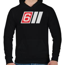 PRINTFASHION AUDI S6 - Férfi kapucnis pulóver - Fekete