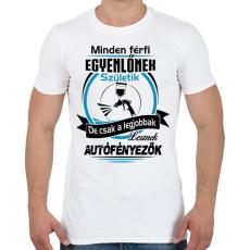 PRINTFASHION Autófényező születésnap - Férfi póló - Fehér