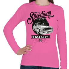 PRINTFASHION Autópálya - Női hosszú ujjú póló - Rózsaszín