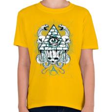 PRINTFASHION Az anarchia szeme - Gyerek póló - Sárga