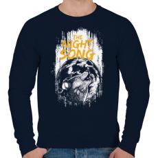PRINTFASHION Az éjszaka hangja - Férfi pulóver - Sötétkék