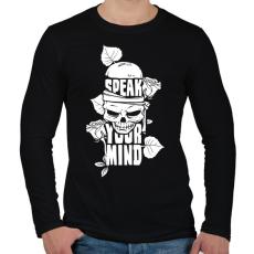 PRINTFASHION Az elméd - Férfi hosszú ujjú póló - Fekete