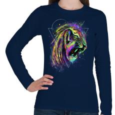 PRINTFASHION Az elpusztíthatatlan - Női hosszú ujjú póló - Sötétkék
