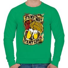 PRINTFASHION Az én szenvedélyem - Férfi pulóver - Zöld
