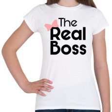 PRINTFASHION Az igazi főnök! - Női póló - Fehér