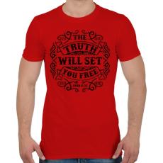 PRINTFASHION Az igazság szabaddá tesz - Férfi póló - Piros