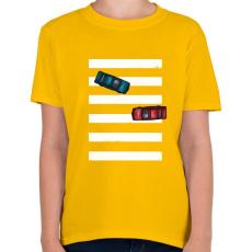 PRINTFASHION Az út közepén - Gyerek póló - Sárga
