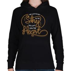 PRINTFASHION Az út nem az égben van, hanem a szívben - Női kapucnis pulóver - Fekete