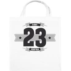 PRINTFASHION b-day-23-dark-lightgrey - Vászontáska - Fehér