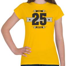 PRINTFASHION b-day-25-dark-lightgrey - Női póló - Sárga