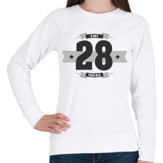 PRINTFASHION b-day-28-dark-lightgrey - Női pulóver - Fehér