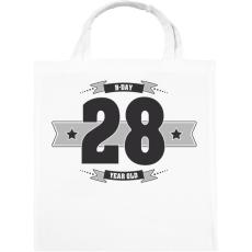 PRINTFASHION b-day-28-dark-lightgrey - Vászontáska - Fehér