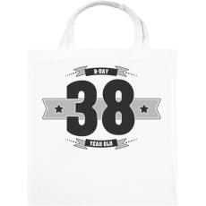 PRINTFASHION b-day-38-dark-lightgrey - Vászontáska - Fehér