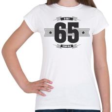 PRINTFASHION b-day-65-dark-lightgrey - Női póló - Fehér