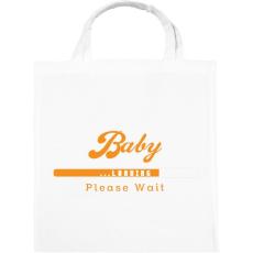 PRINTFASHION baby-loading-orange-white - Vászontáska - Fehér