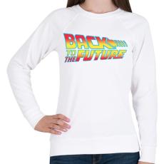 PRINTFASHION Back To The Future - Női pulóver - Fehér