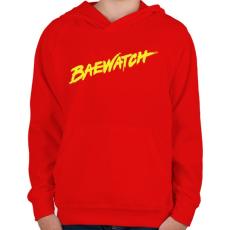 PRINTFASHION BAEwatch - Gyerek kapucnis pulóver - Piros