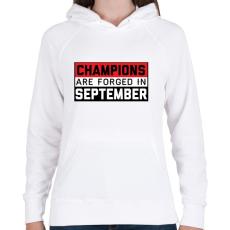 PRINTFASHION Bajnokok - Női kapucnis pulóver - Fehér