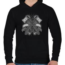 PRINTFASHION Balták - Férfi kapucnis pulóver - Fekete