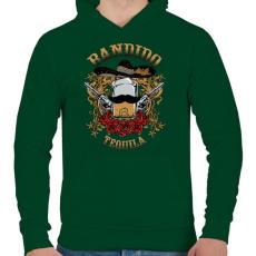 PRINTFASHION Bandita - Férfi kapucnis pulóver - Sötétzöld