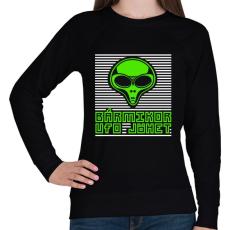 PRINTFASHION bármikor UFO jöhet - Női pulóver - Fekete
