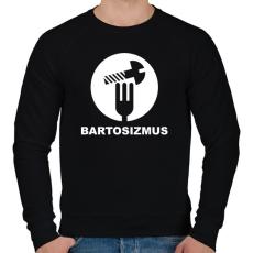 PRINTFASHION Bartosizmus - fehér - Férfi pulóver - Fekete