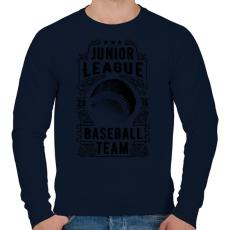 PRINTFASHION Baseball csapat  - Férfi pulóver - Sötétkék