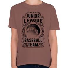 PRINTFASHION Baseball csapat  - Gyerek póló - Mogyoróbarna