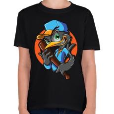 PRINTFASHION Baseball madár - Gyerek póló - Fekete