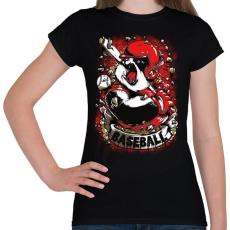 PRINTFASHION Baseball panda - Női póló - Fekete