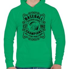 PRINTFASHION Baseball szuper liga  - Férfi kapucnis pulóver - Zöld