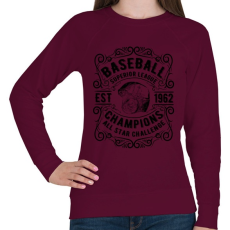 PRINTFASHION Baseball szuper liga  - Női pulóver - Bordó