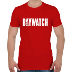 PRINTFASHION BAYWATCH - Férfi póló - Piros