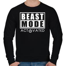 PRINTFASHION Beast Mode Activated - Férfi pulóver - Fekete