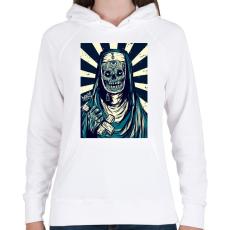 PRINTFASHION BeastDesign - Női kapucnis pulóver - Fehér