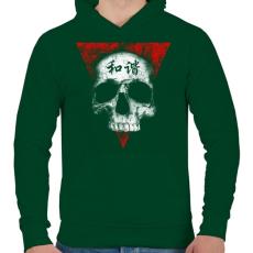 PRINTFASHION Békés koponya - Férfi kapucnis pulóver - Sötétzöld