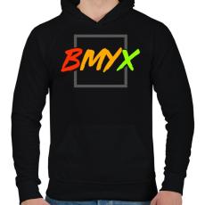 PRINTFASHION BeMyEx - Férfi kapucnis pulóver - Fekete