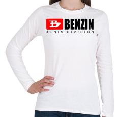PRINTFASHION benzin - Női hosszú ujjú póló - Fehér