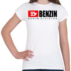 PRINTFASHION benzin - Női póló - Fehér