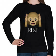 PRINTFASHION Best Friends - Monkey 1 - Női pulóver - Fekete