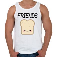 PRINTFASHION Best Friends - Nutellás kenyér 2 - Férfi atléta - Fehér